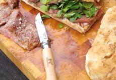 ciabatta, secreto, waterkers, varkensvlees